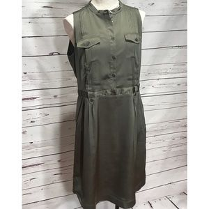 Banana Republic Olive Green Button Down Dress